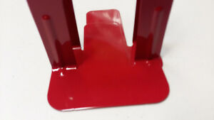 Red Metal Book Ends - Book Holders