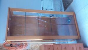 TEAK BOOKCASE, can be used as curio cabinet or display cabinet