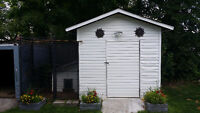 ***FREE**** White Shed with Dog House and Pen