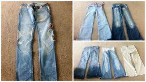 Six Pairs of Women's Jeans and Pants. Size XS, Small, Medium.