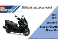 Suzuki Burgman 400, 3 Year Warranty