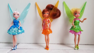 fee clochette poupee / Tinkerbell, Fawn, Periwinkle 4.5 inch