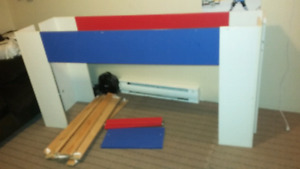 Childrens single high bed - price reduced.