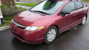 Honda Civic 2007 manuelle 3500$