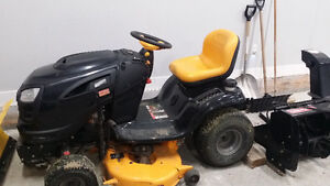 Craftsman 24HP Riding mower with snow blower attachment