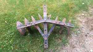 Old disk plow