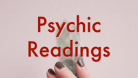 Psychic card and pendulum readings.