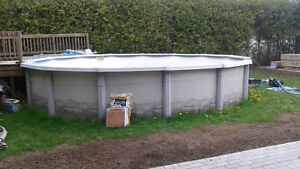 24 feet Trevi above ground Pool, Installation and New Liner