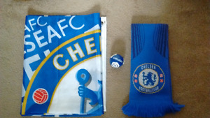 Adidas Chelsea FC Scarf and flag