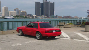 1990 Ford Mustang Red Coupe (2 door)