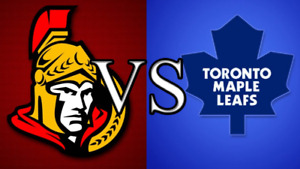 MAPLE    LEAFS   VS OTTAWA SENATORS WED FEB 6TH 2019 4 GREENS