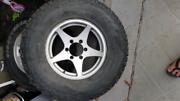 Rims, wheels, tyres 265/75/16 set of 5 4x4 Port Macquarie Port Macquarie City Preview