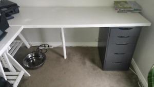 IKEA shelving L desk - includes Serta chair