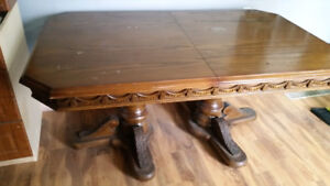 Wood Carved Dining Table 67x41 inch dimension