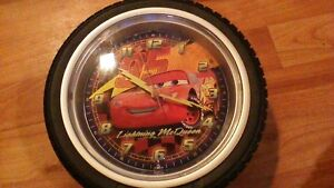 "DISNEYS ""CARS"" LIGHTNING MCQUEEN TIRE CLOCK"