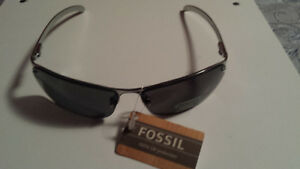 FOSSIL ALAMO SUNGLASSES SILVER NEW WITH TAG