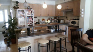 **Kitchen Cabinets, countertop, & double-sink ~~ great shape **