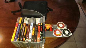 PSP UMD Movies and Black Case