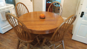 Oak Table with chairs
