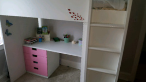 IKEA STUVA LOFT BED WITH DESK AND WARDROBE