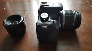 Canon Rebel EOS t2i package + Extras Goodies