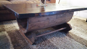 One of a kind rustic coffee table
