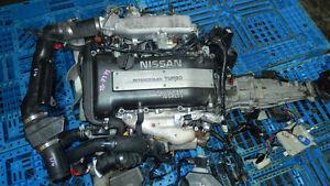JDM NISSAN 240SX / SILVIA S14 SR20DET TURBO ENGINE 5 SPEED TRANS