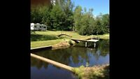 8 acres land with fish pond