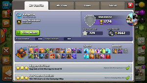 Clash of Clan war base! Was max th9. Now max th9.5! Low weight