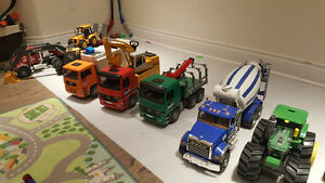 Large lot of Bruder Trucks