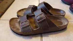 BIRKENSTOCK NARROW OILED Leather  SANDALS SIZE 41