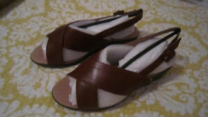 2 pairs of ladies SOFT leather sandals.
