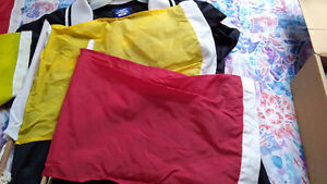 Soccer umbro ref jersey and 4 flags