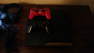 Ps3 bundle comes with 2 controllers and turtle beach headphones