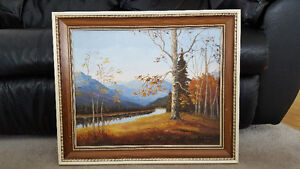 Framed Autumn picture