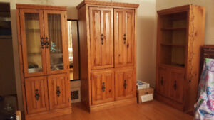 Living Room Set (TV Cabinet, Curio, Display Cabinet)
