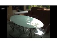 IKEA DINING TABLE WITH 6 MATCHING CHAIRS MUST GO BY SATURDAY