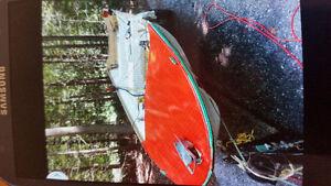 16 foot fiberglass boat and trailer