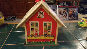 Vintage 1971 Fisher Price play family school with accessories...