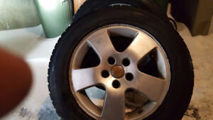 Toyo Garit 4 winter tires on mag for AUDI 225/55/16 - $500