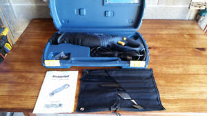 Mastercraft compact reciprocating saw with extra set of blades