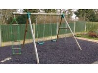 Plum 'Gibbon' Garden Swing & Climb Set