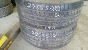 Pair of 2 Kumho Road Venture APT 275/55R20 tires (60% tread life