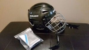 Like New Black Bauer Youth Hockey Helmet with Facemask