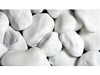 Indoor Decors - White Marble Pebbles For Sale