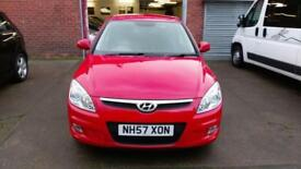 HYUNDAI i30 1.6 PREMIUM IN RED ONLY 60K MILES HEATED LEATHER SEATS ALLOYS 2008