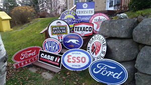 BIG GASOLINE AND HEAVY EQUIPMENT SIGNS