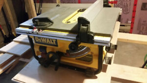 Dewalt Table saw with brand new blade!