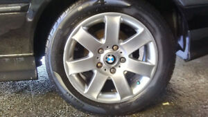 "OEM BMW style 44 16"" wheels - 5 x 120 w/tires"