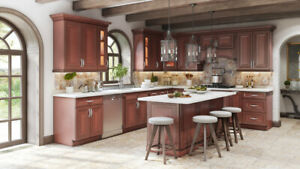 Walnut Glaze maple wood kitchen on Promotion now!!!